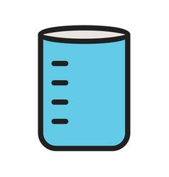 Glass beaker vector