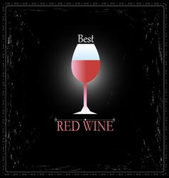 Glass wine sign vector