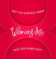 Greeting card to womens day vector