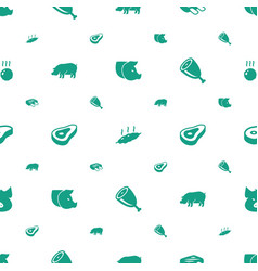 Ham icons pattern seamless white background vector
