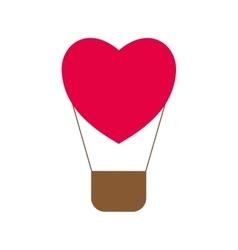 Heart love hot air balloon icon graphic vector