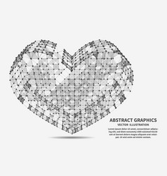 heart network connections vector image