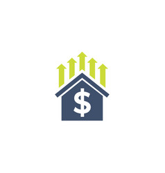 house prices growth vector image