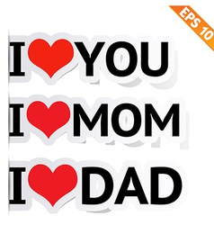 I LOVE YOU Sticker - - EPS10 vector