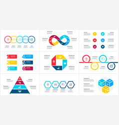 infographic set circles pyramid infinity vector image