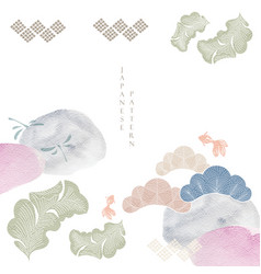 japanese pattern with traditional icon vector image