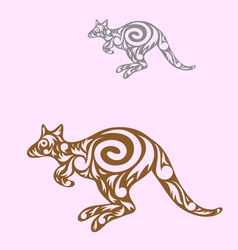 Kangaroo decorative vector