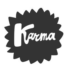 Karma cartoon fashion phrase cute vector