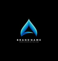 Letter a colorful logo design vector