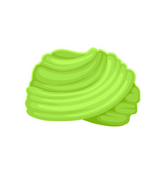 Light green turban on white vector