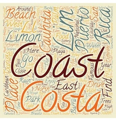 Limon Costa Rica text background wordcloud concept vector