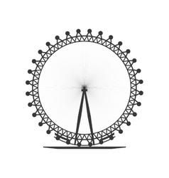 London eye icon United kingdom design vector