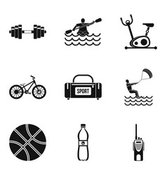 Male health icons set simple style vector