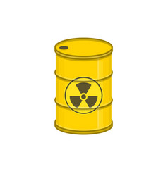 metal barrel with radiation vector image