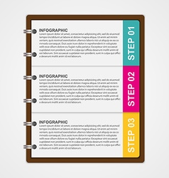 Modern design template infographic of notebook vector image