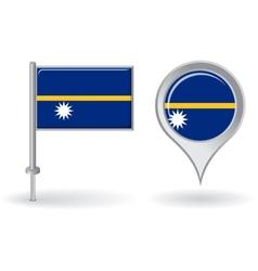 Nauru pin icon and map pointer flag vector image