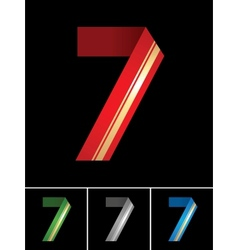 Numeral of paper tape - 7 vector