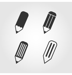 Pencil icons set flat design vector image