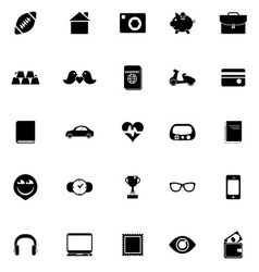 Personal data icons on white background vector