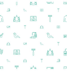 personal icons pattern seamless white background vector image