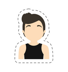 portrait character man male vector image