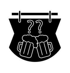 Pub quiz glyph icon vector
