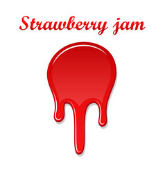 Raspberry drip jam 3d sweet raspberries splash vector