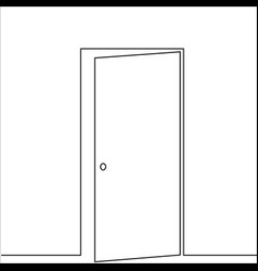 realistic elements outline door vector image