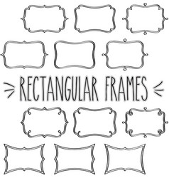 rectangular frames hand sketch vector image