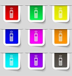 remote control icon sign Set of multicolored vector image
