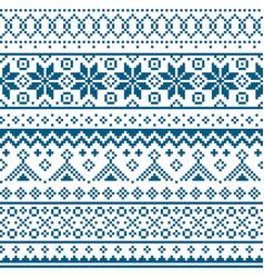 Scottish fair isle traditional knitwear pattern vector