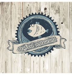 seafood rest vector image