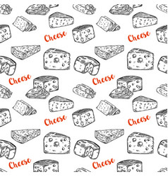 Seamless pattern with cheese design element for vector