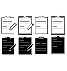 set flat document folders icons for web vector image