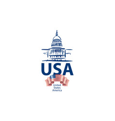 sign white house usa hand drawn vector image