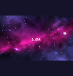 space background with shining stars stardust and vector image