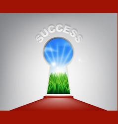 success keyhole concept vector image