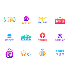 swipe arrows scroll buttons variations blog vector image