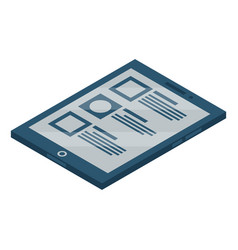 tablet pad icon isometric style vector image
