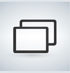 tabs or web page icon for web or apps isolated on vector image