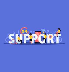 Tech support horizontal composition vector