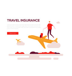 travel insurance - colorful flat design style web vector image