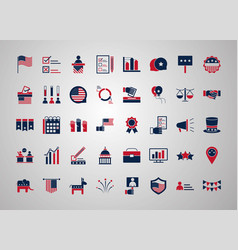 United states elections campaign collection vector