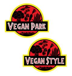 Vegan style t-shirt image vegetables vector