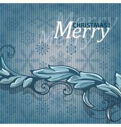 Vintage background with snowflakes vector image