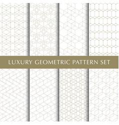 Vintage geometric pattern pack vector