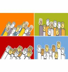 voting hands vector image vector image