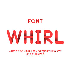 Whirl font alphabet letters vector