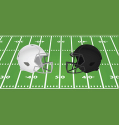 white and black american football helmet vector image