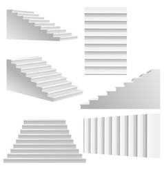 White stairs set vector